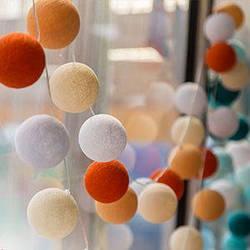 Гирлянды декоративные Cotton Balls