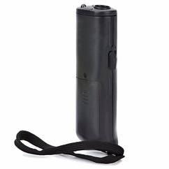 Ультразвуковой портативный отпугиватель собак Aokeman AD-100 с фонариком Черный up8558, КОД: 215583