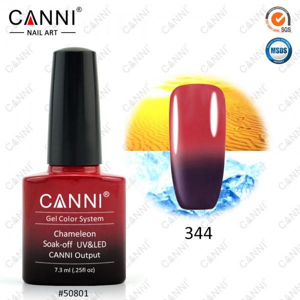 Термо гель-лак CANNI 7.3 мл, №344 шоколадный - красный