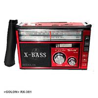 Радиоприемник c USB/SD и аккумулятором. GOLON RX-381