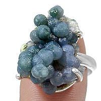 """Серебряное кольцо с виноградным агатом  """"КАберне"""", размер 17.9   от студии LadyStyle.Biz, фото 1"""