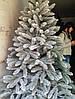 Искусственная Ель Литая 220 см Заснеженная Елка Новогодняя 2,2 метра, фото 2