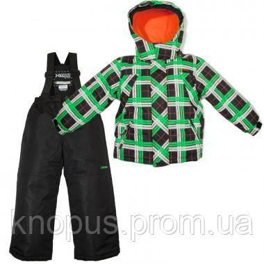 Зимний детский термокомплект X-Trem by Gusti, черно-зеленый с оранжевым