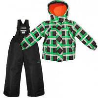 Зимний детский термокомплект ( черно-зеленый с оранжевым) X-Trem by Gusti, размеры 92-134 98
