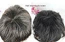 Натуральный парик женский. Короткая стрижка. Чёрный из натуральных волос, фото 7