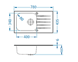 Кухонная мойка Alveus Genesis Vitro 20 Black I 78*43 см, фото 3