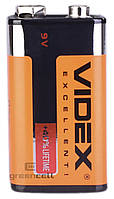 Батарейка Videx 6F22/9V (Крона) 1pcs SHRINK