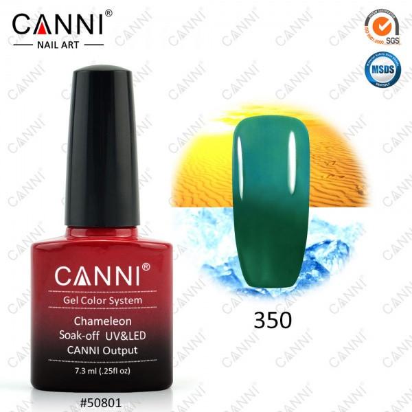 Термо гель-лак CANNI 7.3 мл, №350 зеленый - изумрудный
