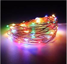 Светодиодные гирлянды на батарейках 3 метра 30 LED Цветные, фото 3