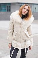 Женская зимняя парка Max Mara с  мехом