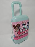 Дорожный чемодан голубой для куклы LOL Surprise
