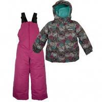 Зимний термокомплект для девочки X-Trem by Gusti, серо-розовый с голубым, размеры 92-134