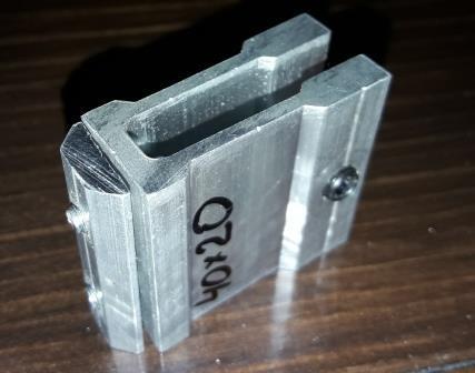 Крепеж потайной для трубы прямоугольной 20х40мм