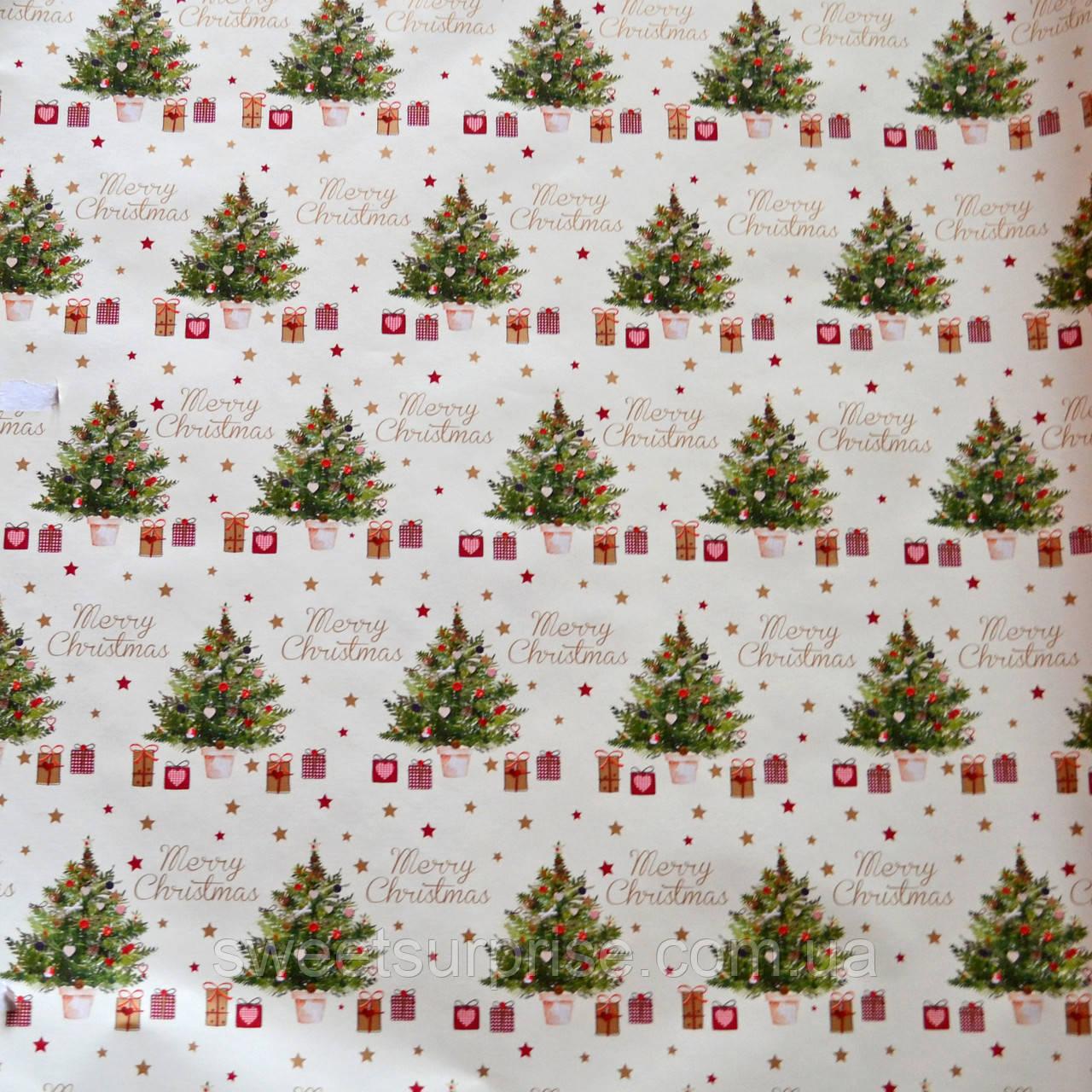 Бумага для упаковки новогодних подарков