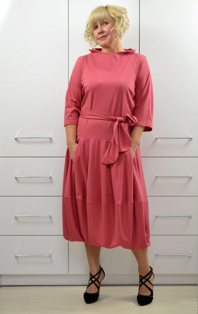 Платье бохо пыльная роза  - Модель 1720