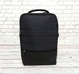 Качественный рюкзак в стиле Shaolong с отделом для ноутбука + USB. Темно серый.