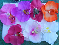 Орхидея из силикона (заколка-брошка 12шт) .45