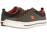 5ab7f7c4e4b1 Кроссовки Кеды (Оригинал) Converse One Star - Ox Utility Green Campfire  Orange