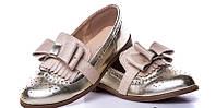 Золотые туфли лоферы Mah shoes р. 28-35
