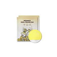 Салфетка для очищения и пилинга с улиточным фильтратом SeaNtree Radiance Snail Peeling Pad
