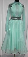 Платье бирюзовое кружевное, Турция
