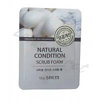 Пенка для умывания-скраб для жирной кожи The Saem Natural Condition Scrub Foam 150 мл (8806164145715), фото 2