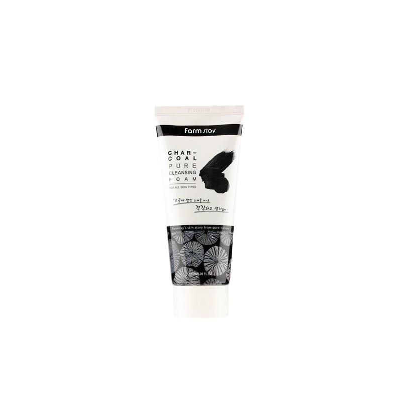 Пенка для умывания Farmstay Charcoal Pure Cleansing Foam