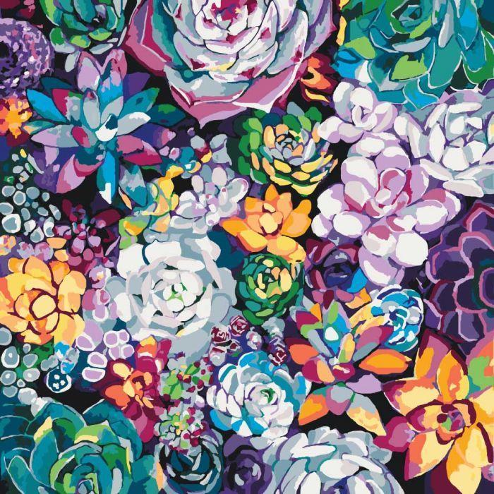 """Картина по номерам. Букеты """"Волшебыне цветы""""  40*40см * KHO3017"""