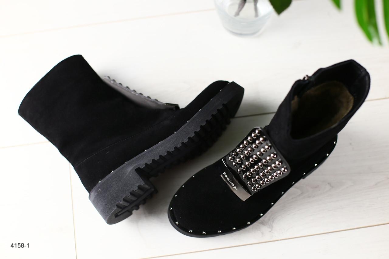Женские  ботинки в стиле Баленсиага (с заклепками)