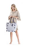 f926e373ad3ac Летняя пляжная сумка с декором Iconique IC9-139 One Size Голубой