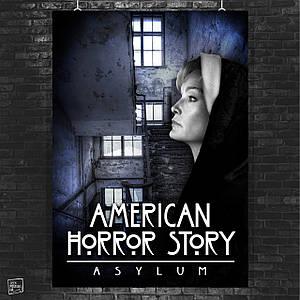 """Плакат """"American Horror Story, Американская История Ужасов, AHS,Asylum"""". Размер 60x42см (A2). Глянцевая бумага"""