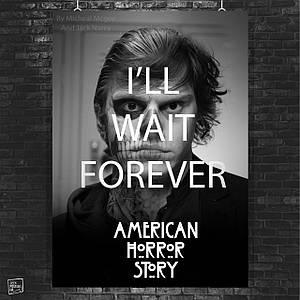 Постер American Horror Story, Американская История Ужасов. Размер 60x42см (A2). Глянцевая бумага