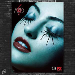 Постер American Horror Story, Американская История Ужасов. Размер 60x44см (A2). Глянцевая бумага