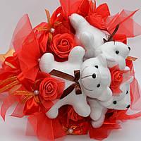 Букет из игрушек №66 (для девушки, ребёнка, на 8 марта) Оригинальный подарок