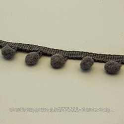 Тасьма з помпонами 1.3 см, уп. 18 м