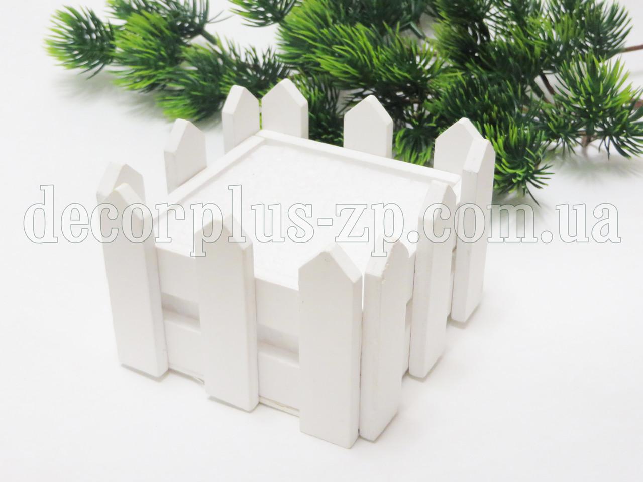 Кашпо-заборчик квадратное ,с пенопластом