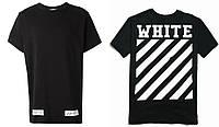 """Футболка OFF WHITE черная с логотипом мужская,женская,детская """""""" В стиле Off White """""""""""