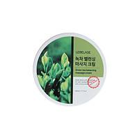Массажный крем для лица с зеленым чаем Lebelage Green Tea Balancing Massage Cream 500 мл (8809317111421), фото 2