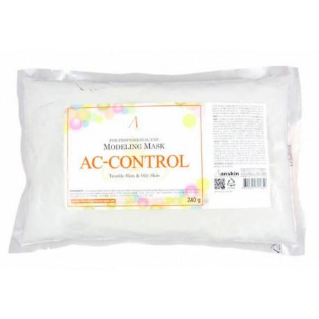 Альгинатная маска для проблемной кожи лица Anskin AC Control Modeling Mask 240 г (пакет) (8809329791659)