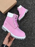 Женские зимние ботинки Timberland (pink)