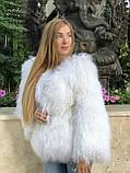 Біла шуба з ЛАМИ 65 см, фото 2
