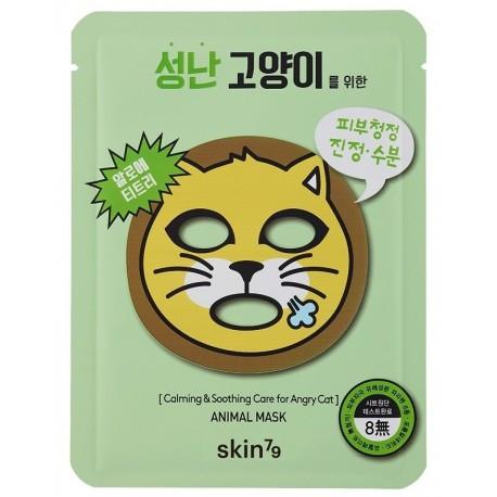 Успокаивающая тканевая маска для лица Skin79 Animal Mask For Angry Cat 23 г (8809393400051)