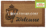 """Придверні решіток килимок з кокосового ворсу на гумовій основі """"Welcome"""" 75х45 див., фото 2"""