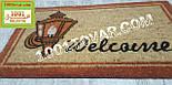 """Придверні решіток килимок з кокосового ворсу на гумовій основі """"Welcome"""" 75х45 див., фото 3"""