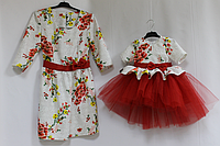 """Нарядное платье на маму и доченьку """"Зачарована квітка"""""""