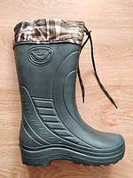 Зимові гумові чоботи Крок (Eva спінена гума) - з утеплювачем. Зимние резиновые сапоги Krok с утеплителем