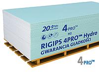 Гіпсокартон вологостійкий 4PRO 12,5мм 1.2хм2.5м Rigips