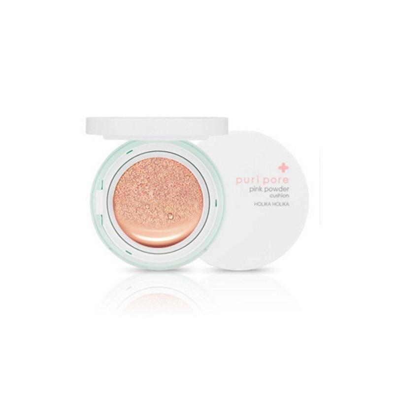 Матирующий кушон для проблемной кожи Holika Holika Puri Pore Pink Powder Cushion SPF50+ PA+++ 12 мл  (8806334371456)