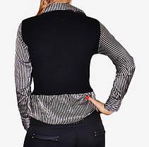 Свитер-рубашка с атласом (W5019)   6 шт., фото 3