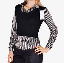 Свитер-рубашка с атласом (W5019) | 6 шт., фото 2